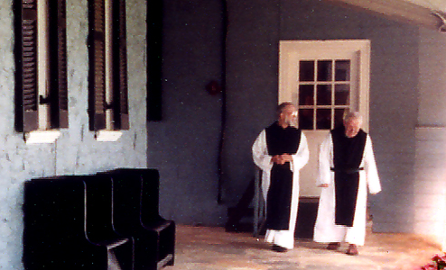 Monks at Holy Cross Abbey